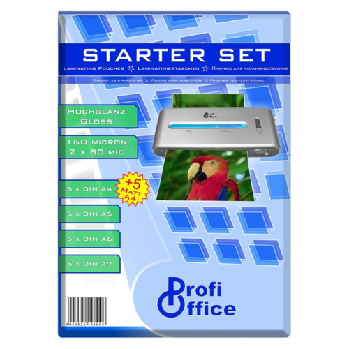 Пакетная пленка для ламинирования ProfiOffice А4/А5/А6/А7 1001-019100 80 мкм 35 шт.