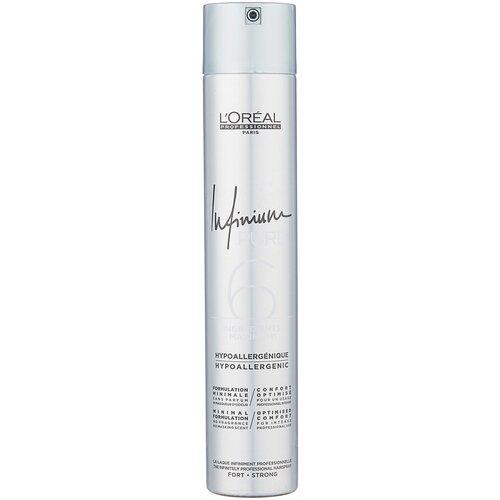 Купить L'Oreal Professionnel Лак для волос Infinium pure Strong, экстрасильная фиксация, 500 мл