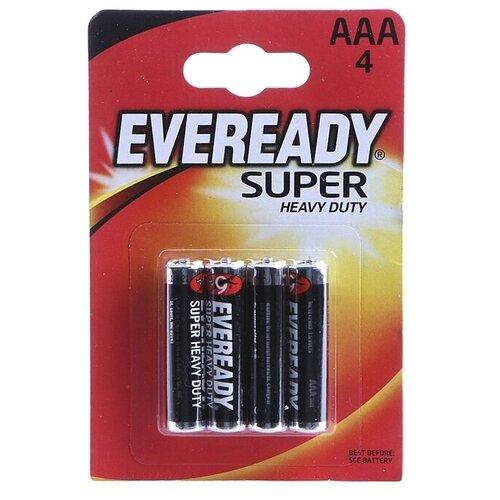 Батарейка AAA - Energizer Eveready Super R03 1.5V (4шт) E301156100 / 11647 батарейка aaa energizer eveready r03 1 5v 4 штуки e301156200