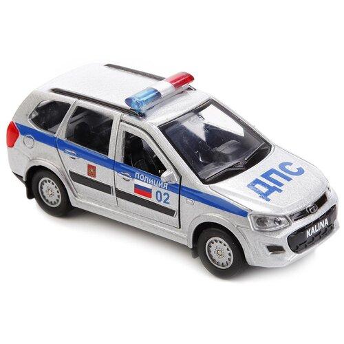 Легковой автомобиль ТЕХНОПАРК Lada Kalina Cross ДПС (SB-16-46-P-WB), 12 см, серебристый