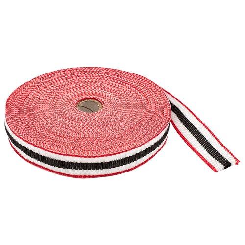 Купить С3824Г17 Стропа-30-5п рис.9492 30мм*25м, 15, 8 г/м (3 красный/белый/черный), Красная лента, Технические ленты и тесьма