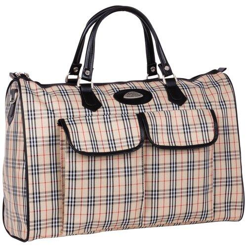 Дорожная сумка 8095 оранжевая клетка