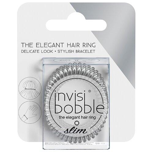 Резинка Invisibobble Slim (упаковка с подвесом) 3 шт. chrome sweet chrome