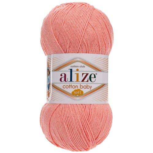 Купить Пряжа Alize Cotton Baby Soft , 270 метров, 5 мотков по 100 грамм, цвет: 145 персиковый
