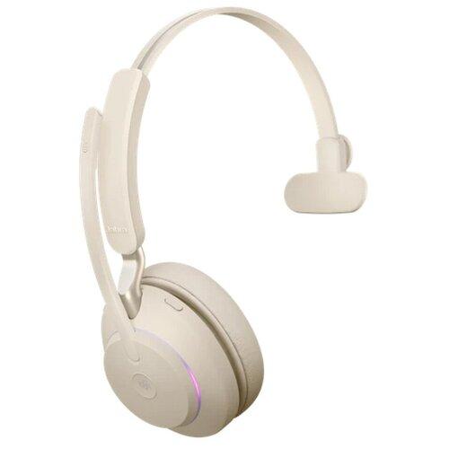 Наушники Jabra Evolve2 65 Link380c UC Mono Beige 26599-889-898 наушники jabra evolve2 65 link380c uc stereo stand black 26599 989 889