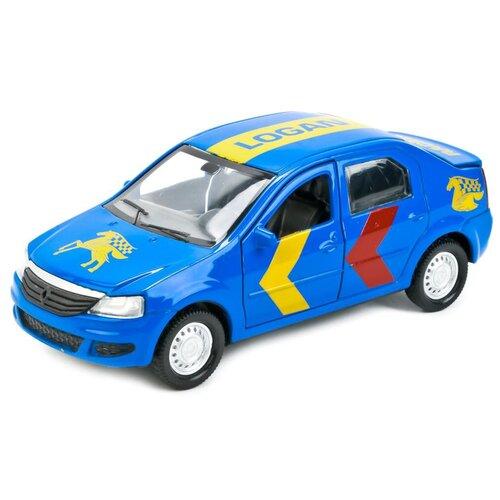 Легковой автомобиль ТЕХНОПАРК Renault Logan Sport (LOGAN-SPORT), 12 см, синий легковой автомобиль технопарк renault kaptur 1 36 12 см оранжевый