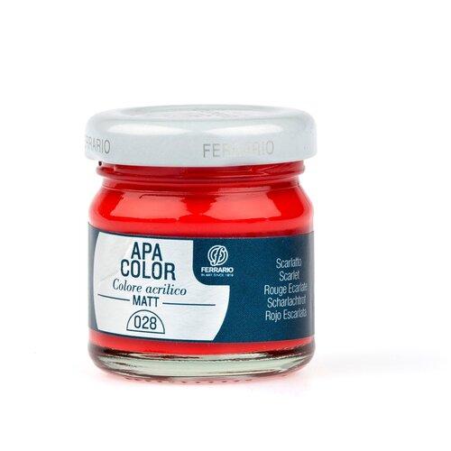 Акрил Ferrario Apa Color 40 мл № 28 красный BA0040А0028