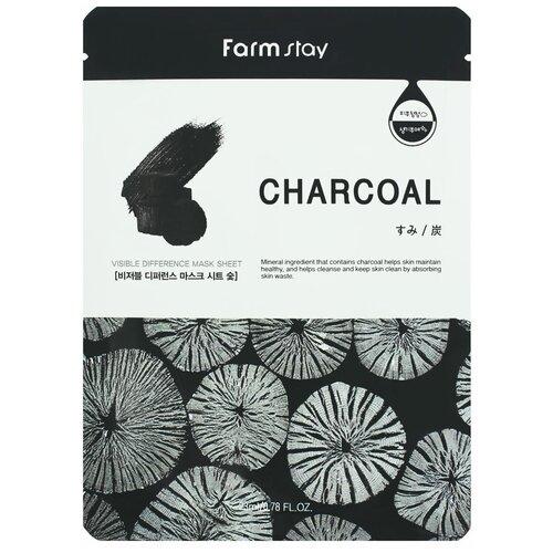 Купить Тканевая маска для лица с углем, 23 мл, Farmstay (652031)