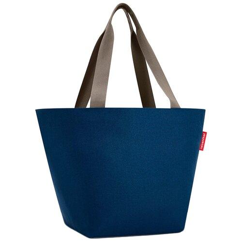 Сумка тоут reisenthel, текстиль, темно-синий сумка тоут reisenthel текстиль красный