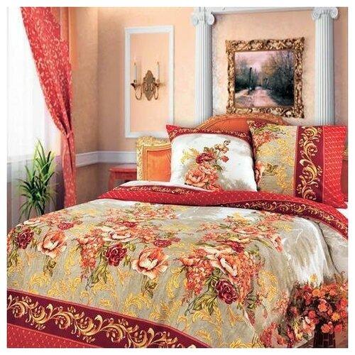 Постельное белье Гобелен, красный евростандарт