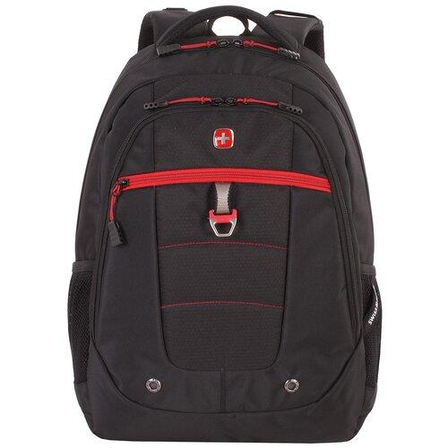 Фото - Рюкзак SWISSGEAR, 15, черный/красный, полиэстер, 900D, 34х18x47 см, 29 л рюкзак swissgear 32x15x46 см 22 л черный