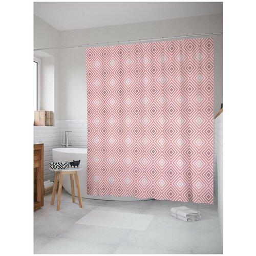 Фото - Штора для ванной JoyArty Обманчивые квадраты 180х200 (sc-23303) штора для ванной joyarty подарки для семьи 180х200 sc 78656