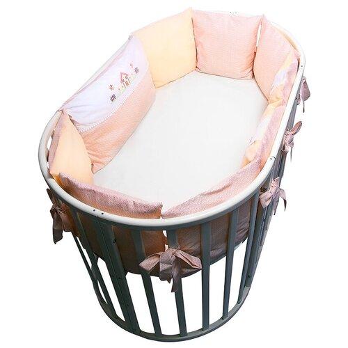 Фото - Сонный Гномик бортики-подушки Кантри бежевый сонный гномик бортики подушки стрекоза егоза розовый