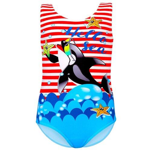 Купить Купальник цельнокроеный для девочек, ALIERA, К 22.64, размер 128-134, Белье и купальники