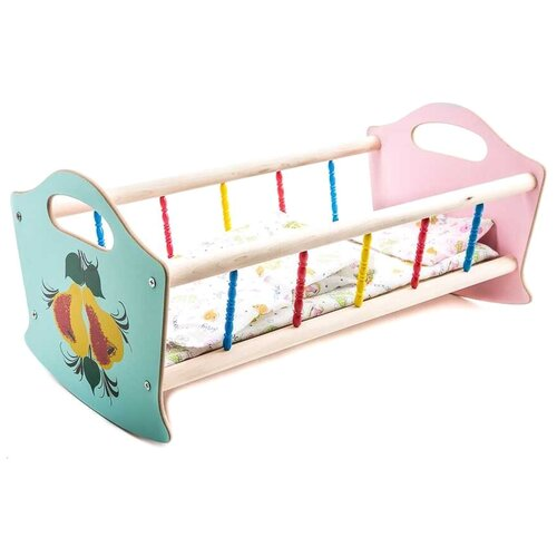 Владимир (Деревянные игрушки) Кроватка для кукол большая (СУС3)