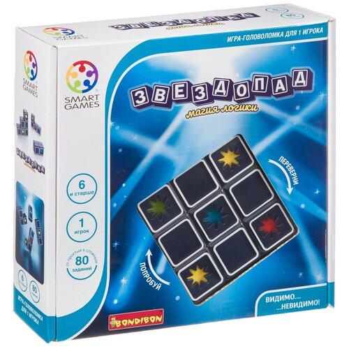 Головоломка BONDIBON Smart Games Звездопад (ВВ4680) черный головоломка bondibon smart games iq конфетки вв1353