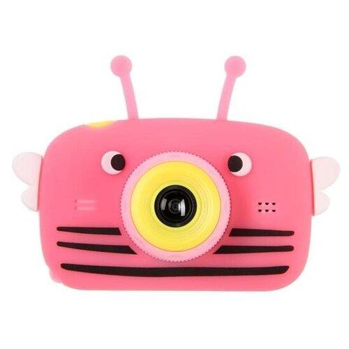 Фото - Фотоаппарат Children's Fun Camera Bee со встроенной памятью и играми розовый фотоаппарат gsmin fun camera rabbit со встроенной памятью и играми голубой