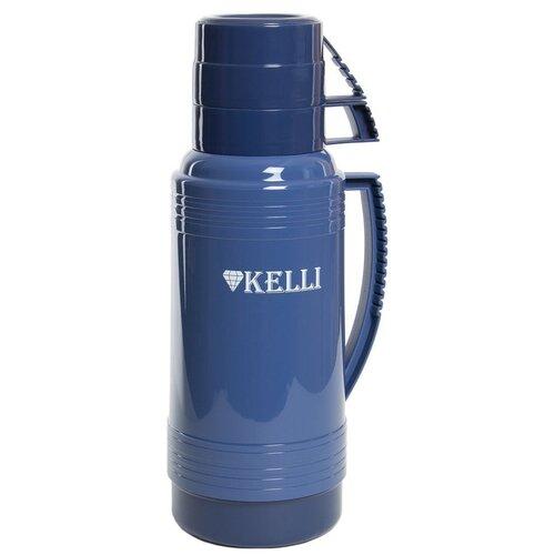 Классический термос Kelli KL-0945, 1 л синий