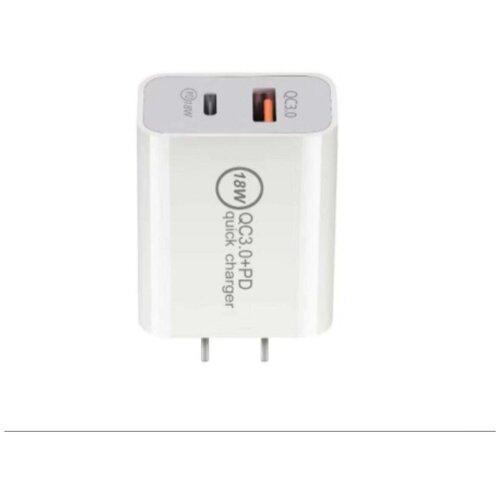 Зарядное устройство для телефона, зарядка 2 USB, зарядка для iphone, зарядка Type-C, быстрая зарядка, для двух устройств QC3.0+PD