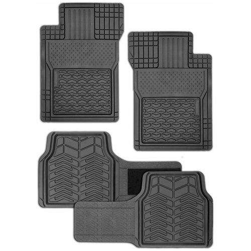Фото - Комплект ковриков салона AUTOPROFI FIX-520 4 шт. черный комплект ковриков autoprofi pet602 4 шт черный