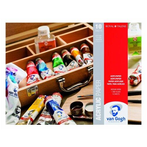 Фото - Альбом для акрила Royal Talens Van Gogh 40 х 30 см, 370 г/м², 10 л. альбом для акварели royal talens rembrandt 32 х 24 см 300 г м² 20 л
