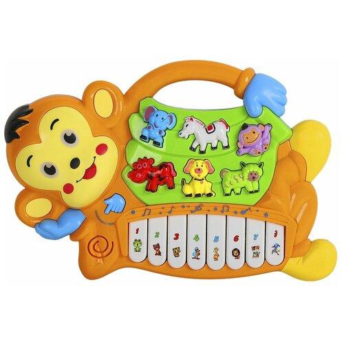 Интерактивная развивающая игрушка Smart Baby Обезьяна JB0333395, коричневый