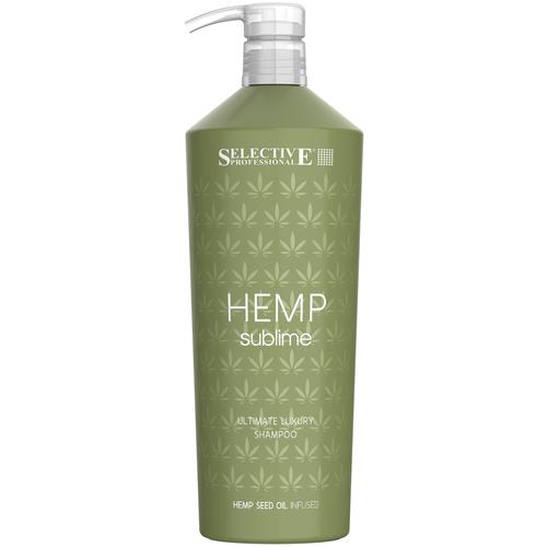 Купить Selective Professional шампунь увлажняющий Hemp Sublime для сухих и поврежденных волос с маслом семян конопли, 1 л