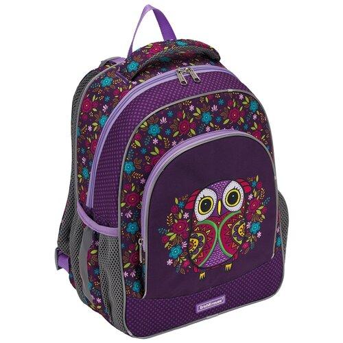 Купить Ученический рюкзак ErichKrause ErgoLine 15L Flower Owl, Рюкзаки, ранцы