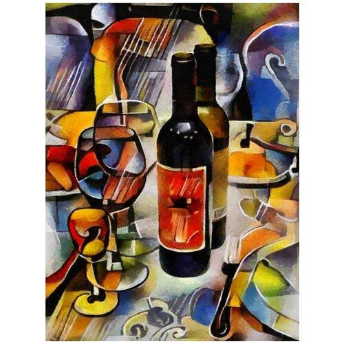 Картина интерьерная Woozzee Вино. Кубизм PKI-541-283817