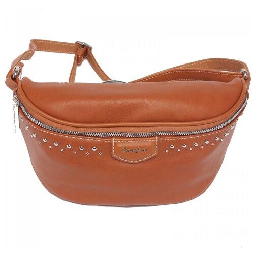 сумка на пояс женская dimanche регби цвет черный 231 1f Женская сумка на пояс экокожа(искусственная кожа) David Jones 522756