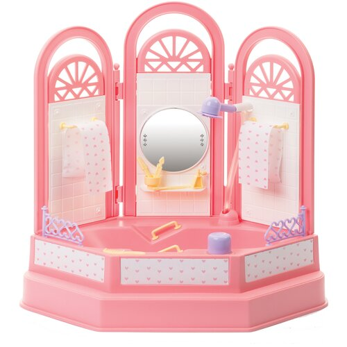 Фото - ОГОНЁК Ванная комната Маленькая принцесса (С-1335) розовый ванная комната для куклы огонек маленькая принцесса