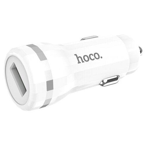 Автомобильный адаптер питания Hoco Z27A White QuickCharge 3.0 зарядка 3A USB-порт, белый