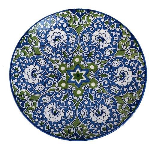 Фото - Доляна Тарелка Джавлон 21,7 см сине-зеленый доляна салатник джавлон 12 см синий зеленый
