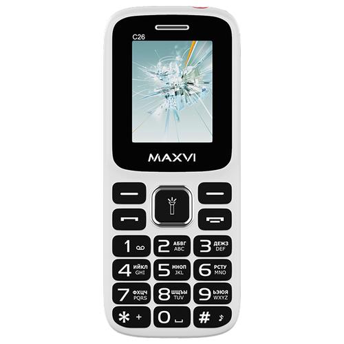Телефон MAXVI C26 белый / красный