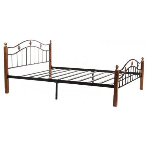 Фото - Кровать TetChair AT-126 двуспальная, размер (ДхШ): 210х165 см, цвет: черный/коричневый кровать tetchair at 803 двуспальная размер дхш 210х164 5 см каркас массив дерева цвет красный дуб черный