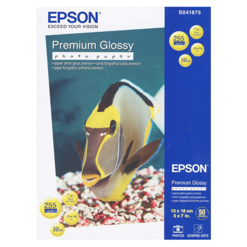 Фото - Бумага Epson А12 Premium Glossy Photo Paper (C13S041875) 255г/м2 50 лист., бeлый бумага epson a4 premium glossy photo paper c13s041624 255г м2 50 лист белый