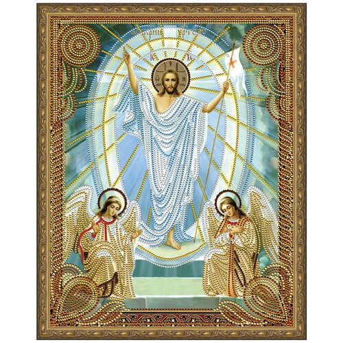 Алмазная мозаика 5D с нанесенной рамкой Molly 40х50 см Воскресение Христово алмазная мозаика 5d с нанесенной рамкой molly 40х50 см господь вседержитель