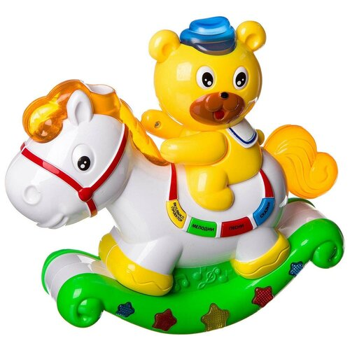 Интерактивная развивающая игрушка Play Smart Расти, малыш Медвежонок и лошадка, белый/желтый/зеленый