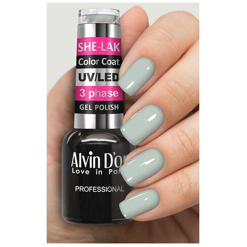 Купить Гель-лак для ногтей Alvin D'or She-Lak Color Coat, 8 мл, 35117
