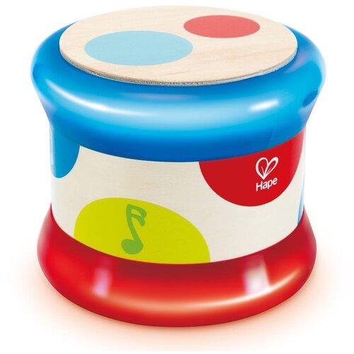 Hape барабан E0333 белый/красный/синий, Детские музыкальные инструменты  - купить со скидкой