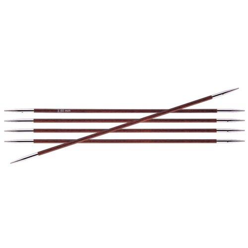 Купить Спицы Knit Pro Royale 29031, диаметр 2.5 мм, длина 20 см, Бордовая Роза