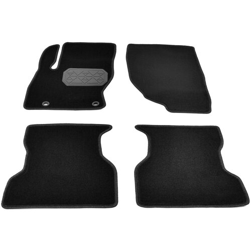 Комплект ковриков салона NorPlast NPL-VTe-220-150 4 шт. чёрный