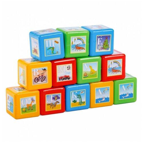 Кубики Юг-Пласт азбука 12 деталей пластик Юг-Пласт