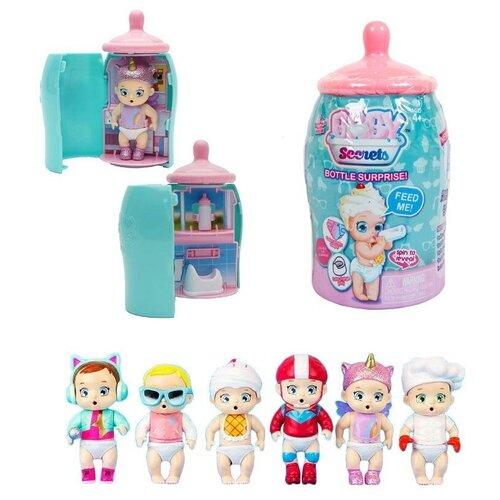 Baby Secrets Bottle Surprise, коллекционная куколка в бутылочке, 6 шт. в ассортименте, 6 шт в дисплее - цена за 1 шт.