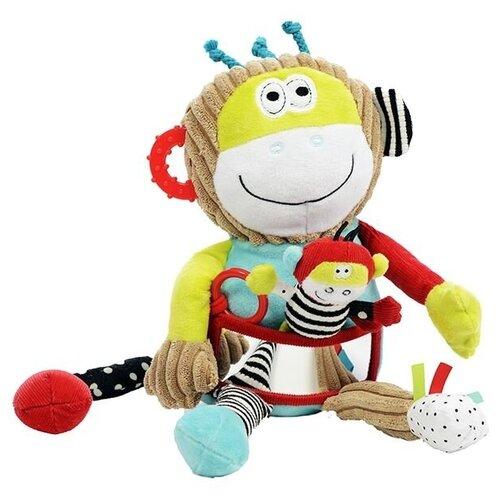 Развивающая игрушка Dolce Обезьянка, бежевый развивающая игрушка dolce попугайчик бело красно голубой