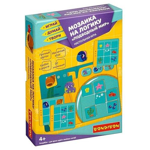 Купить Мозаика на логику BONDIBON ПОДВОДНЫЙ МИР. - Настольная игра BONDIBON 4+ (ВВ4765), Настольные игры