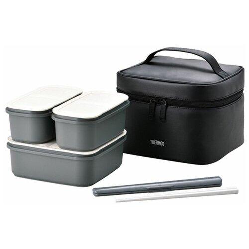 Набор пищевых емкостей, Thermos, DJF-1800 MTBK, в сумке-термос, 0.95л, 2х0,42л
