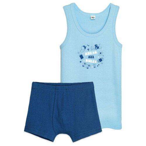 Купить Комплект нижнего белья Let's Go размер 152-158, голубой/синий, Белье и пляжная мода