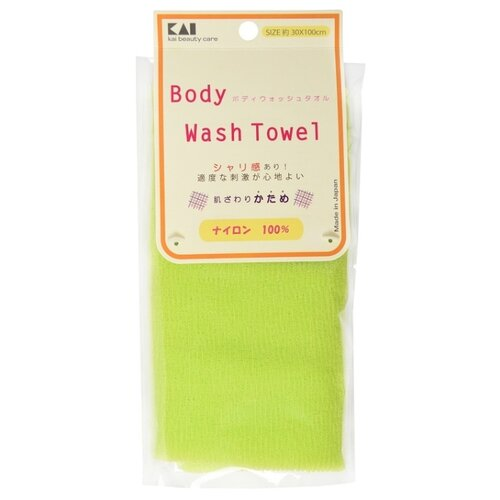 Мочалка KAI Body Wash Towel салатовый