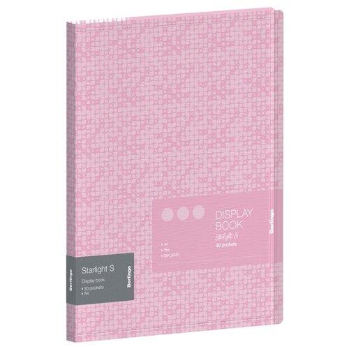 Фото - Berlingo Папка с 30 вкладышами Starlight S А4, 17 мм, 600 мкм, пластик розовый berlingo папка с 20 вкладышами и внутренним карманом radiance а4 17 мм 600 мкм пластик желтый розовый